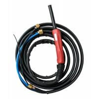 Горелка TIG 25 250A (100%), M12x1, газ 1/4G, вода 3/8G, 4m-с упр. разъёмами 2-3-5pin